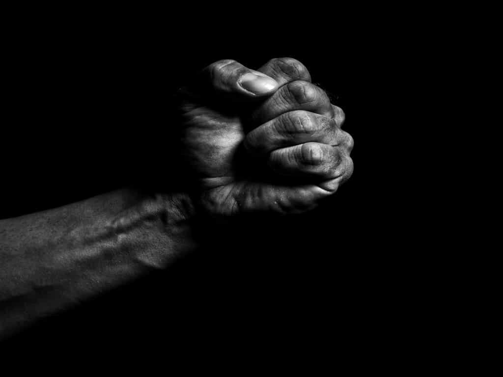 A Strong Fist with a Black Background